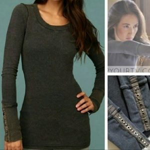 Iconic RARE Free People thermal studded cuff